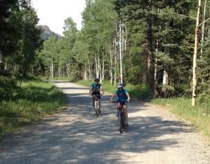 riding down Nipple Mountain
