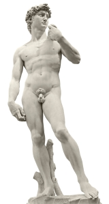 Michelangelo's David  with clipping path
