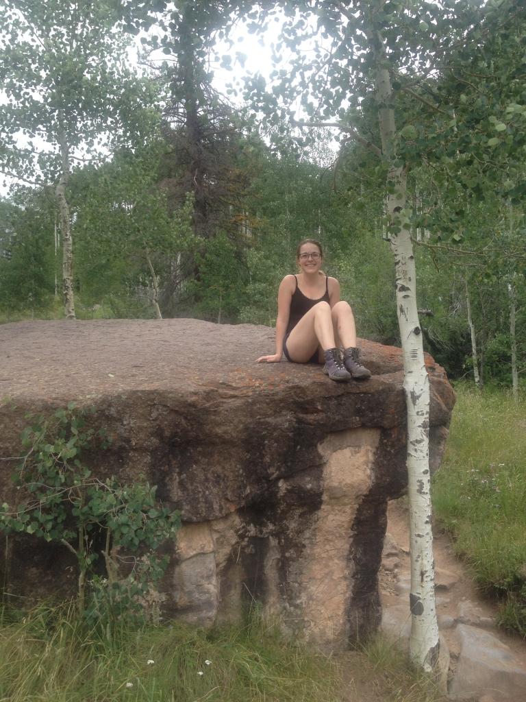 aspen and rock