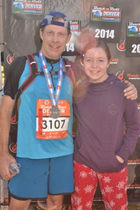 finisher photo with Ellie