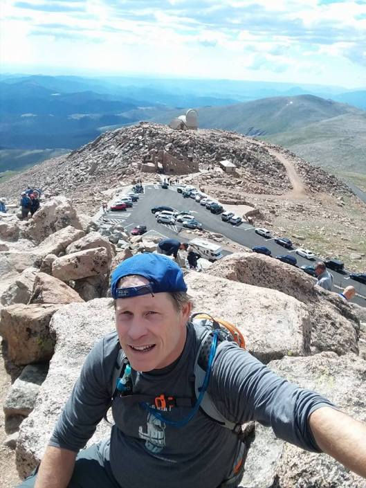 Ed on Mt Evans